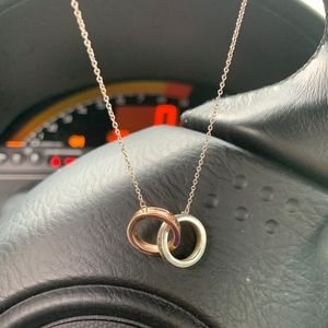 Tiffany and co Rubedo Rose Gold/Silver Necklace